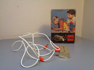 Lego System Denmark Vintage 1950's Lighting Device Pack 245 Very Rare Vg In Box