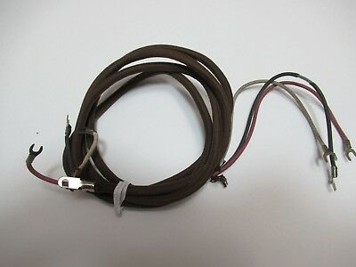 Antique telephone Brown cloth covered  handset cord original Western Electric