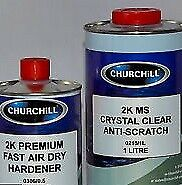 2K Crystal Clear Anti Scratch Clearcoat 1.5Ltr Lacquer / Activator Kit 1Ltr +0.5