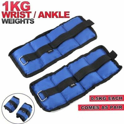 1KG Ankle Weights Strap Leg Wrist Running Boxing Training Strap Gym Yoga Workout