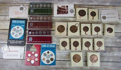 Israel Coins Lot Medals Sets Uncirculated State Bronze