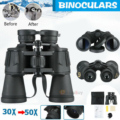 30 x 50 Zoom Day Night Vision Outdoor Travel Binoculars Hunting Telescope + Case