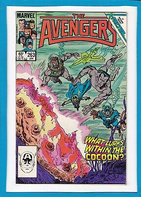 """Avengers #263_January 1986_Very Fine Minus_""""what Lurks Within The Cocoon?""""!"""