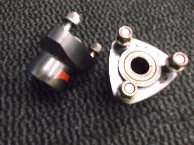 go kart classic 17mm wild kart front hubs with bearings and nuts short 55mm long