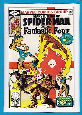 Marvel Team-Up #100_Dec 1980_Nm-_Spidey_Fantastic Four_Double-Size_Frank Miller!