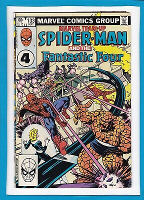 Marvel Team-Up #133_September 1983_Fine+_Spider-Man_Fantastic Four_Bronze Age!
