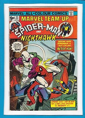Marvel Team-Up #33_May 1975_Very Good/fine_Spider-Man & Nighthawk_Bronze Age Uk!