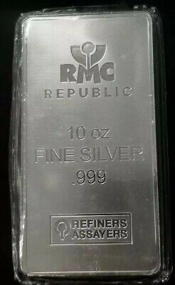 Republic Metals Corp RMC 10 oz .999 Fine Silver Bar [SC7511]