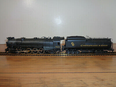 Gem Models Ho Scale Imported Brass C & O J2 4-8-2 Painted Steam Loco & Tender