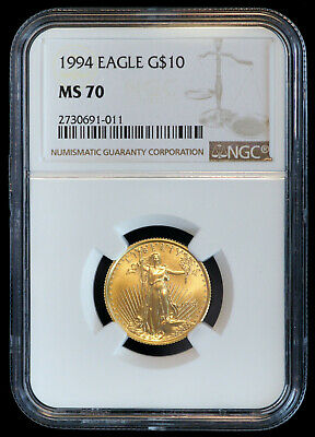1994 $10 American Eagle Coin 1/4 oz Gold (NGC MS 70 MS70)  (07735)