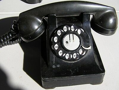 Telephone Black Desk Rotary Dial Western Electric 302 Reduced Price