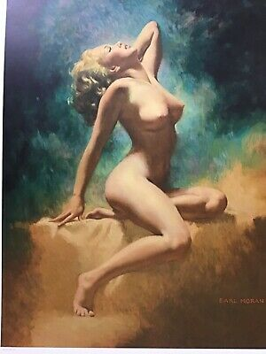 Marilyn Monroe Limited Edition Lithograph #2566/3493 Painting By Earl Moran