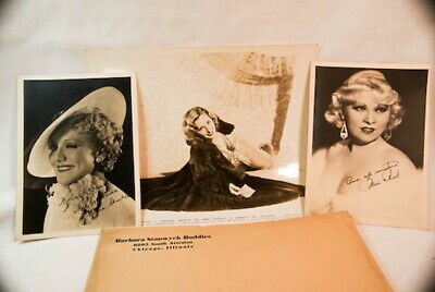 Vintage Original Hollywood Movie Actress Photos Stanwyck Mae West Lot