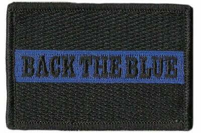 BuckUp Tactical Morale Patch Hook Back The Blue Thin Blue Line 3x2