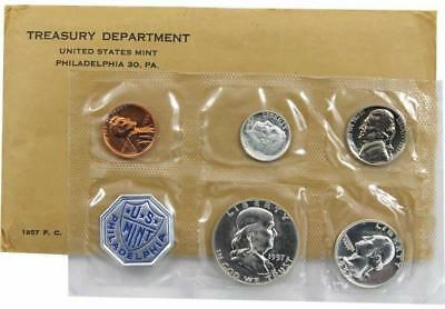 1957 P Silver Proof Coin Set United States Mint
