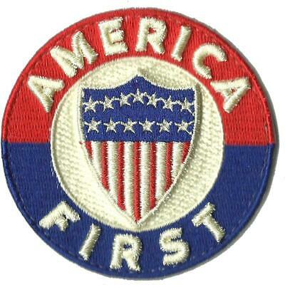BuckUp Tactical Morale Patch Hook America First Morale Patch Circle 3""