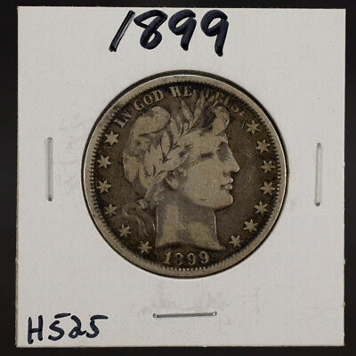 1899 50c SILVER BARBER HALF DOLLAR LOT#H525
