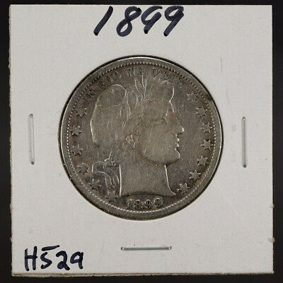 1899 50c SILVER BARBER HALF DOLLAR LOT#H529