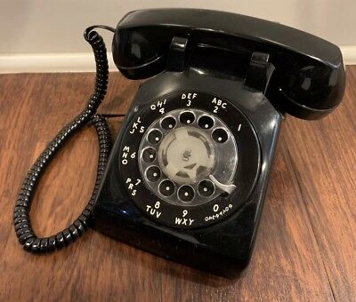 Vintage Bell Systems Western Electric TELEPHONE Blk. Desk Top ROTARY DIAL Phone