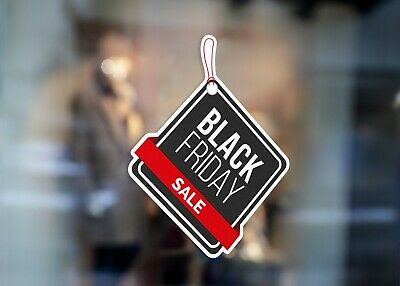 Black Friday Sale Event Large Self Adhesive Window Shop Sign 4262