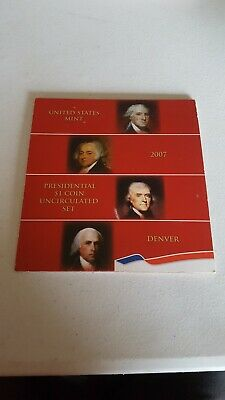 2007 Presidential $1 Coin Uncirculated Set 4 Golden BU Dollars US Mint SEALED