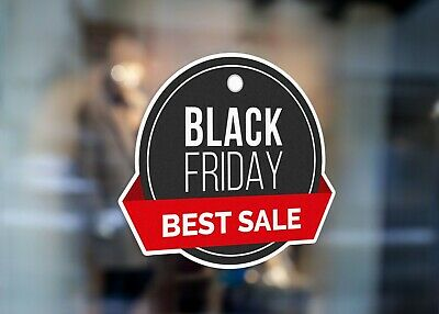 Black Friday Sale Event Circle Large Self Adhesive Window Shop Sign 4263