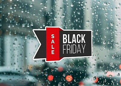 Black Friday Sale Event Shop Large Self Adhesive Window Shop Sign 4264