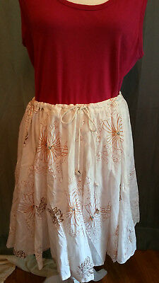 Women's Skirt  by Roxy with linning, 100% cotton Size large