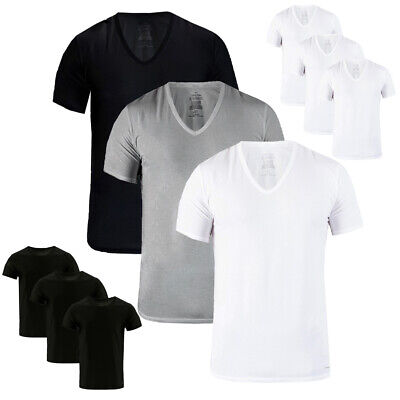 246c6dc300f CALVIN KLEIN CLASSIC Fit Cotton Men's V-Neck or Crew Neck 3 Pack T-Shirts