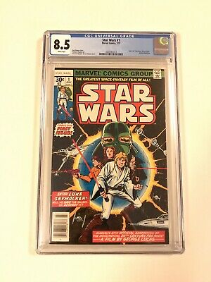 STAR WARS #1 Comic Book 1977- First Print WHITE PAGES CGC 8.5 Just Received!