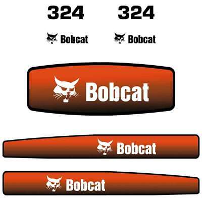 Bobcat 324 Decals Stickers, Repro Aftermarket Decal kit