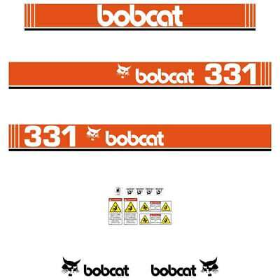 Bobcat 331 X Early Series Decals Stickers, Repro Aftermarket Decal kit