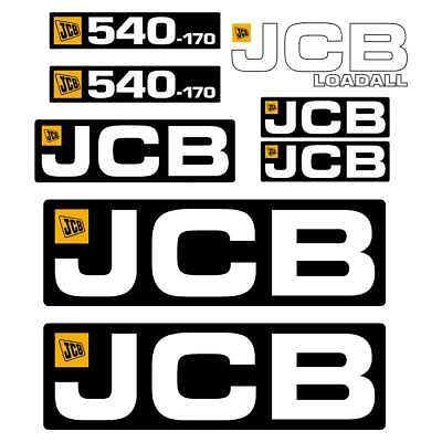 JCB 540-170 Decals Stickers - repro laminated decal kit