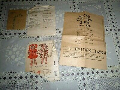 Vintage McCall Sample Doll Outfit w/ Transfer pattern, Size 22