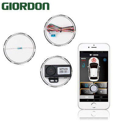 Smartphone car alarm system compatible with ios and android phone car engine