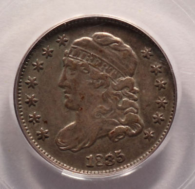 1835 5c PCGS XF 45  Capped Bust Half Dime Small Date Small 5c STARTS ONE CENT