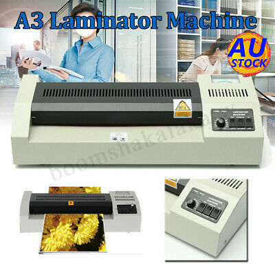 AUS A3 Laminating Laminator Plastic Cold Hot Mounted Thermal Roller Pouch