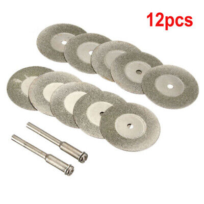 10PCS Diamond Cutting Wheel Saw Blades Cut Off Discs Set Rotary Tool Replacement