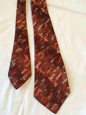 Vtg 1940's Hand Made Spring Back Carter & Holmes Rockabilly Necktie Atomic Tie