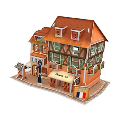 3D Wooden Doll House DIY Set Miniature Furniture Kit Play Dollhouse Kids Toy