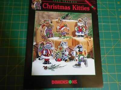 Christmas Kitties Cross Stitch Leaflet #339 - Dimensions - Good Condition