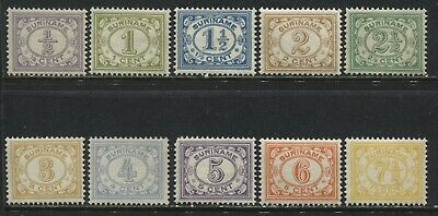Surinam 1913-31 various Numerals to 7 1/2 cents mint o.g.