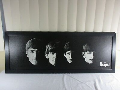 The Beatles Framed Black (Textured)Poster Apple Corps Limited Printed In Sheffel