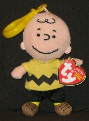 05e9ee752bed2 TY KEY CLIP BEANIE BABY - CHARLIE BROWN - MINT with MINT TAGS ...