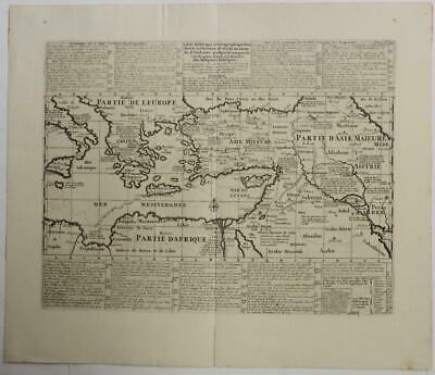 Travels Of St. Paul Eastern Mediterranean Turkey 1719 Chatelain Antique Map