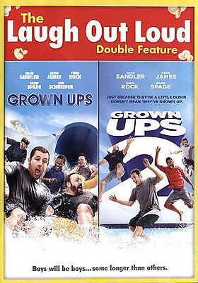 Grown Ups/Grown Ups 2 (DVD, 2015) Widescreen NEW