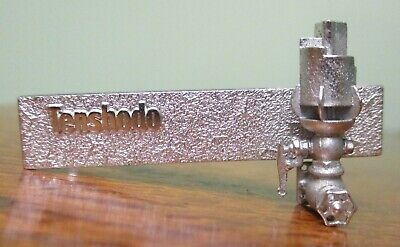 Steam Locomotive 5-Chime Whistle Tie Bar by Tenshodo, Brass Loco Makers of Japan
