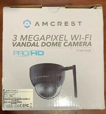 AMCREST PROHD OUTDOOR 3MP Wi-Fi Vandal Dome IP Security