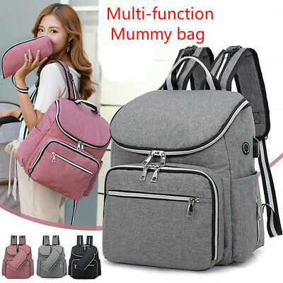 Mummy Bag Shoulder Big Mommy Diaper Bag Baby Diaper Travel Backpack Bottle Hold