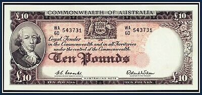 gEF 10 Pound note 1960 Coombs/Wilson WA/60-543731 R-63  Reserve Bank